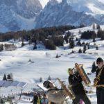 Eine große, weite Hochalm für Wintersport nach Lust und Laune: Die Seiser Alm in den Dolomiten